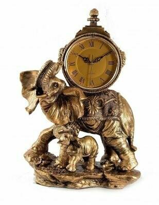 """59375 Часы настольные """"Слоны"""" 35*23*48см"""