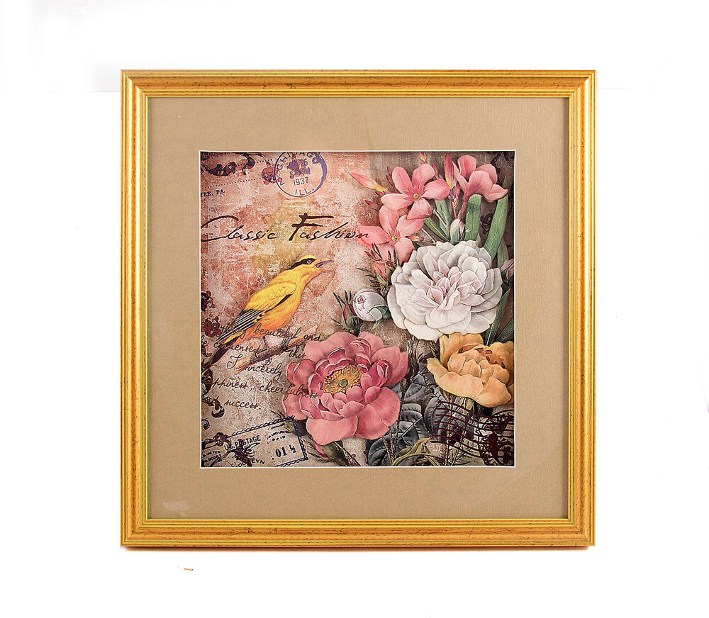 """229689 Картина-коллаж 3D """"Летний сад"""" 35*35*3см"""