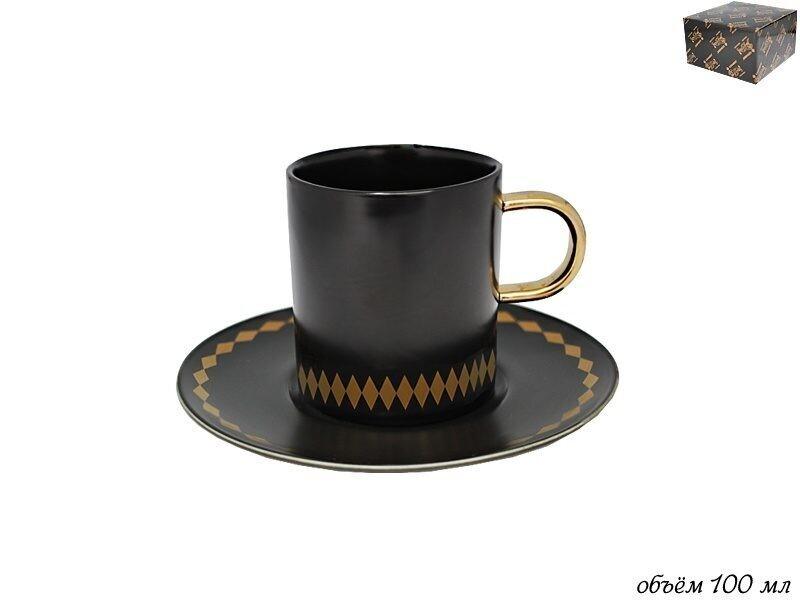 133-004 Чашка с блюдцем 100мл TEKITO в под. уп (х72)Фарфор