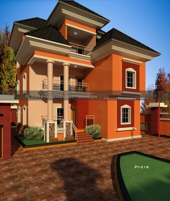 5 Bedroom Penthouse Plan Design Preview | Nigerian House Plans