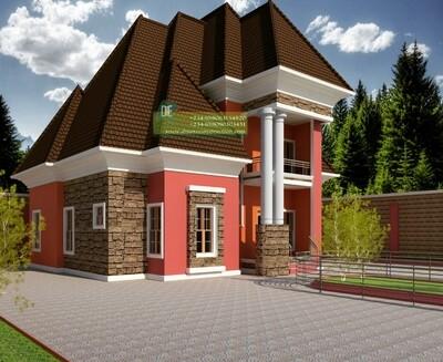 3 Bedroom Bungalow with Penthouse Floorplans Plus Key Construction Materials Estimate | Nigerian House Plans