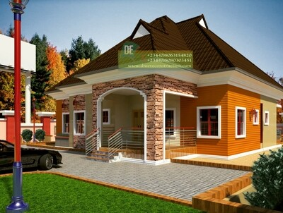 4 Bedroom Bungalow Design Floorplan with Key Construction Materials Estimate | Nigerian House Plans