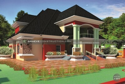 8 Bedroom Penthouse Floor Plans with Key Construction Materials Estimate | Nigerian House Plans