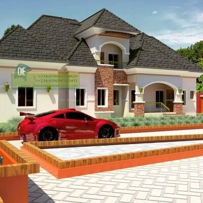5 Bedroom Bungalow Penthouse Floorplans Preview | Nigerian House Plans