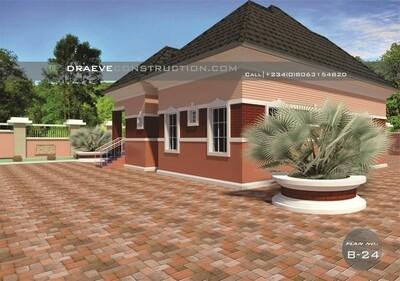 3 Bedroom Bungalow Design Floorplan with Key Construction Materials Estimate | Nigerian House Plans