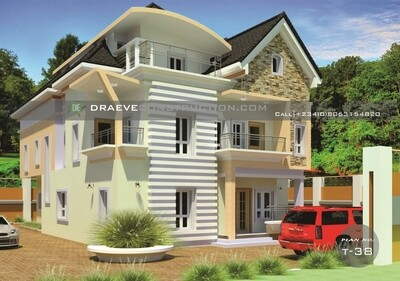 7 Bedroom Duplex with Penthouse Floor Plans Preview | Nigerian House Plans