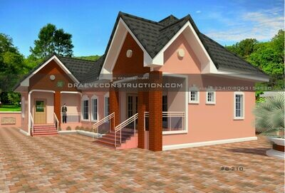 3 Bedroom Bungalow + Selfcontain Floorplan with Key Construction Materials Estimate | Nigerian House Plans