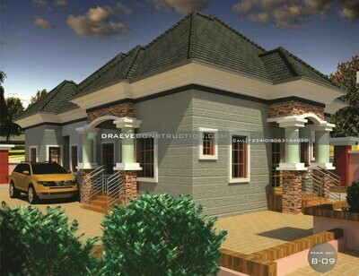 3 Bedroom Flat +Self-contain Floorplan with Key Construction Materials Estimate | Nigerian House Plans