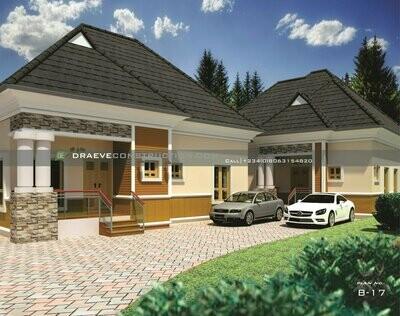 3 Bedroom Bungalow + 2 Bedroom Flat BQ Floorplan with Key Construction Materials Estimate | Nigerian House Plans
