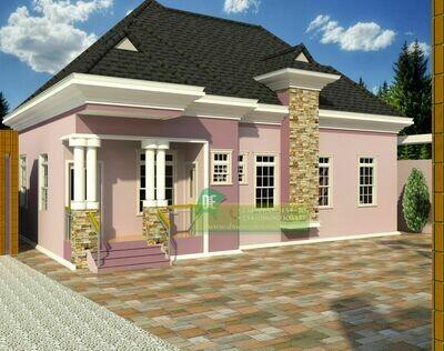 3 Bedroom Bungalow Floor Plan Preview | Nigerian House Plans