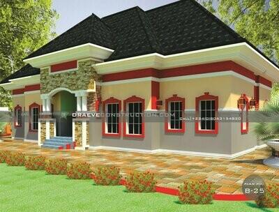 Twin Semidetached 2 Bedroom Flats Floorplan with Key Construction Materials Estimate | Nigerian House Plans
