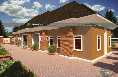 1, 2 & 3 Bedroom Flats Floorplan with Key Construction Materials Estimate | Nigerian House Plans