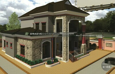 5 Bedroom Penthouse Floorplans with Key Construction Materials Estimate | Nigerian House Plans