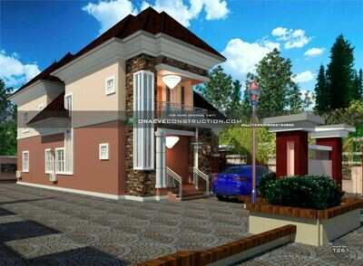 3 Bedroom Pent-Duplex with 2 Lounges House Plan Preview | Nigerian House Plans