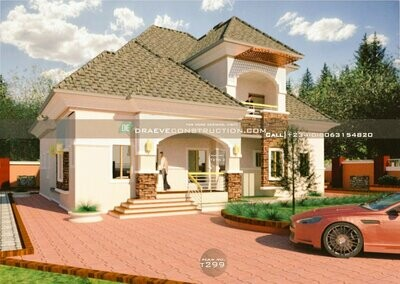 4 Bedroom Bungalow with Penthouse Plan Preview | Nigerian House Plans