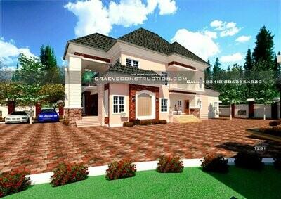 5 Bedroom Duplex Floorplans with Key Construction Materials Estimate | Nigerian House Plans