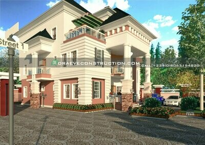 8 Bedroom Penthouse Houseplan Preview | Nigerian House Plans