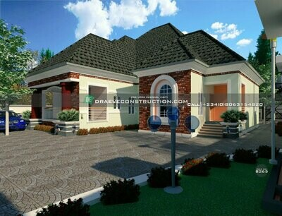 6 Bedroom Bungalow Houseplan Preview | Nigerian House Plans