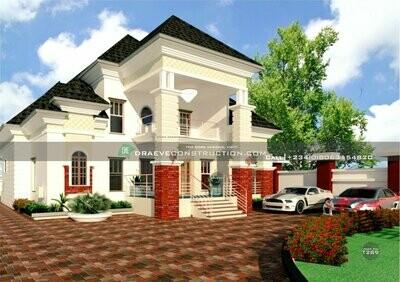 5 Bedroom Penthouse Floorplan Preview | Nigerian House Plans