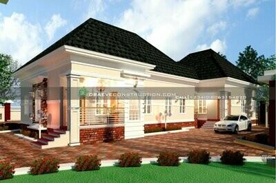 3 Bedroom Bungalow with 2 Bedroom Flat BQ House Plan Design | Nigerian House Plans