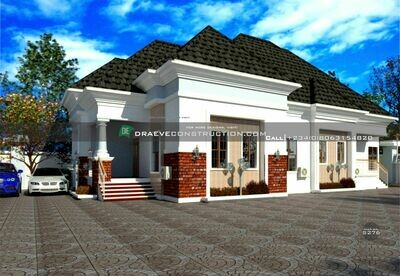 3 Bedroom Bungalow Floor Plan with Children's Parlour | Nigerian House Plans