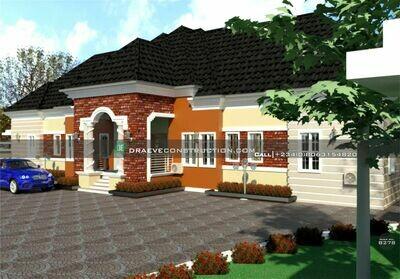 8 Bedroom Bungalow Floor Plan Preview | Nigerian House Plans