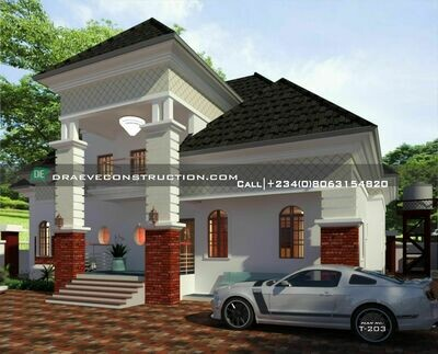 4 Bedroom Penthouse Floorplans with Key Construction Materials Estimate | Nigerian House Plans