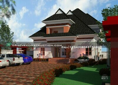 6 Bedroom Penthouse with Private Suites FloorPlan Preview | Nigerian House Plans