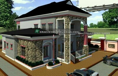 6 Bedroom Penthouse Floorplans Design  | Nigerian House Plans