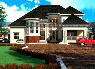 5 Bedroom Penthouse Floorplan with 2 Lounges Preview | Nigerian House Plans
