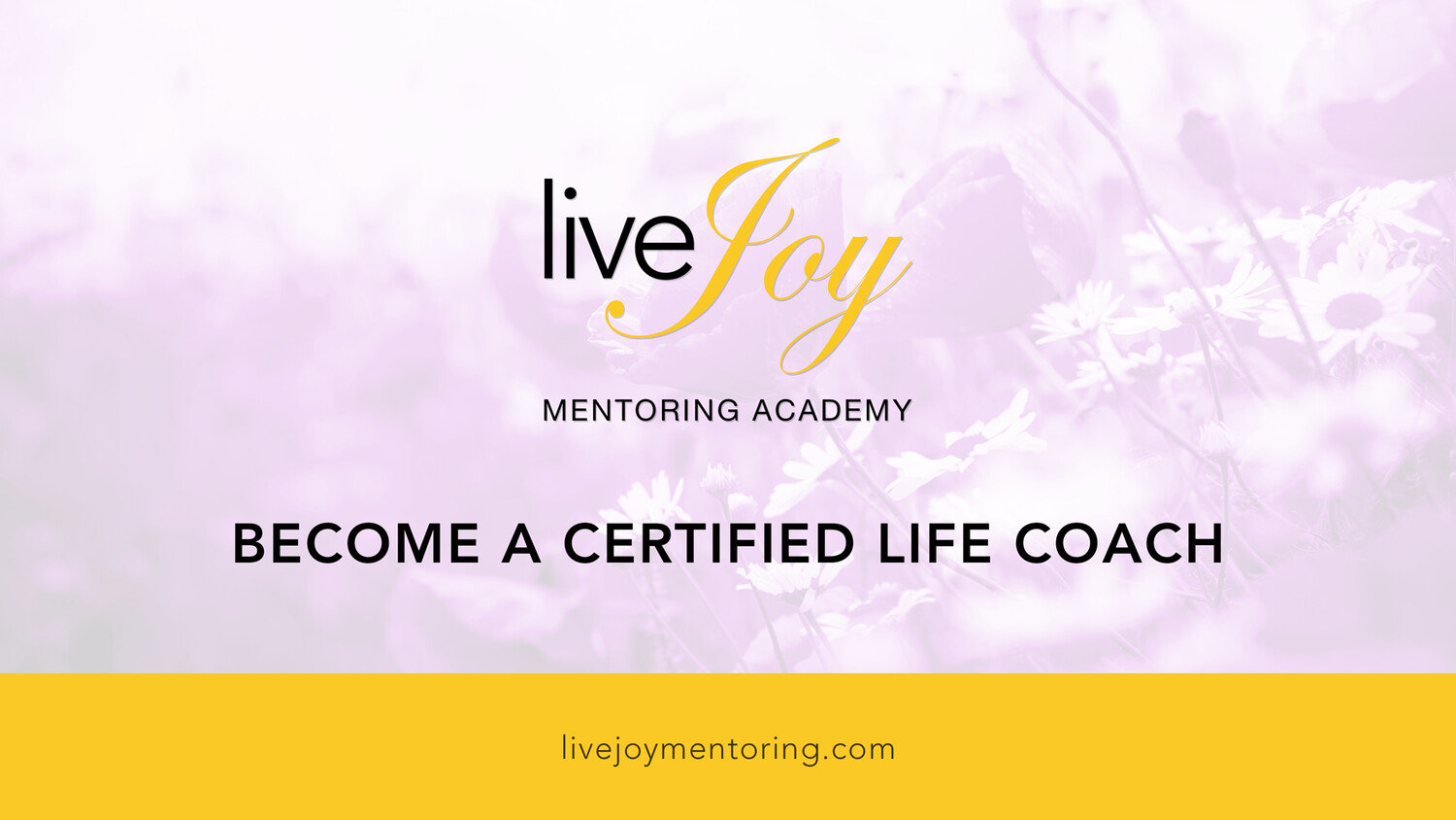 liveJoy Academy Life Coach Certification Course (pay monthly)