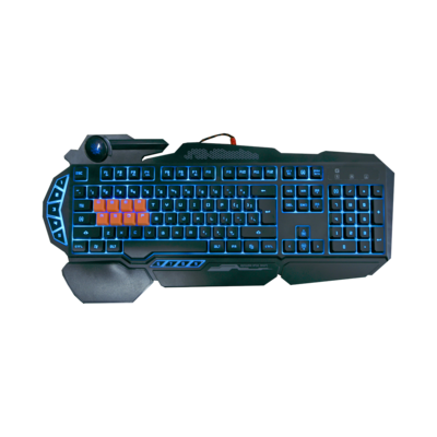 B318 Light Strike 8 Key Optical Gaming Keyboard with 9 Dedicated Marco Keys