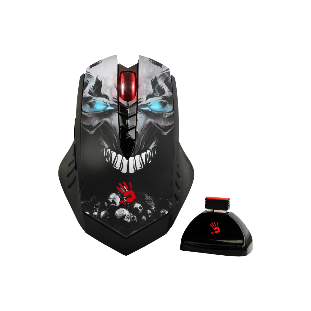 "Bloody R8 Skull N"" Bones Mouse - Wireless"