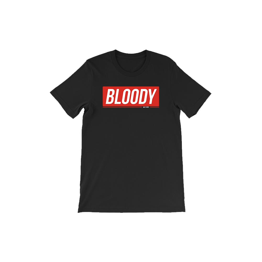 Bloody Short Sleeve T-Shirt Fashion Tee
