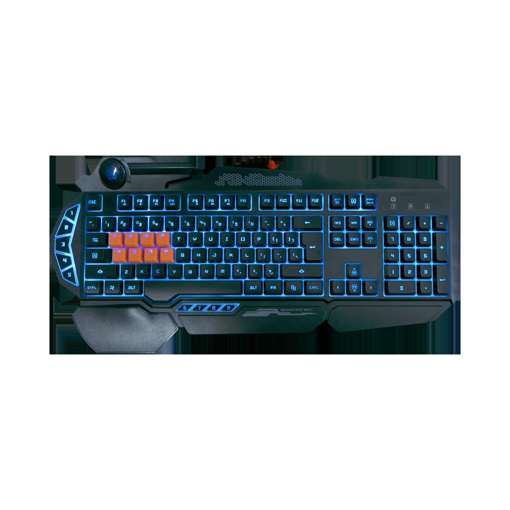 (Renewed) B318 Light Strike 8 Key Optical Gaming Keyboard with 9 Dedicated Marco Keys