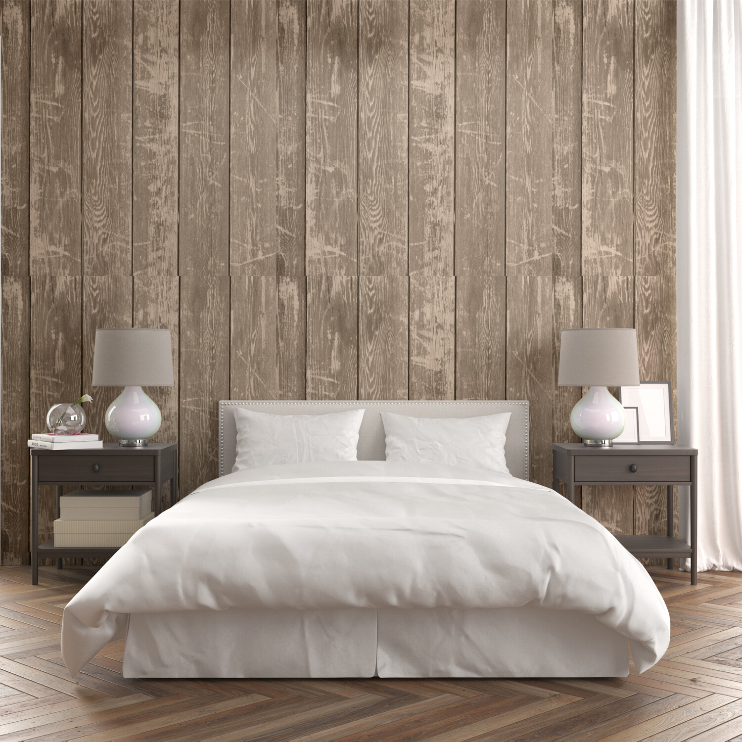 NATURAL WOOD PLANK | Vinyl Wall Wrap for Any Room | Removable Vinyl Wallpaper