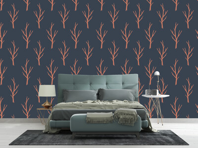 BARE TREES | Vinyl Wall Wrap for Any Room | Removable Vinyl Wallpaper