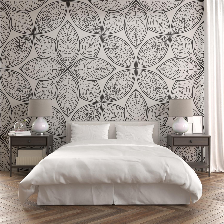 ABSTRACT MANDALA | Vinyl Wall Wrap for Any Room | Removable Vinyl Wallpaper