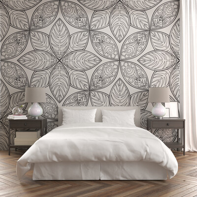 ABSTRACT MANDALA | Vinyl Wall Wrap for Any Room | Removable Vinyl Wallpaper