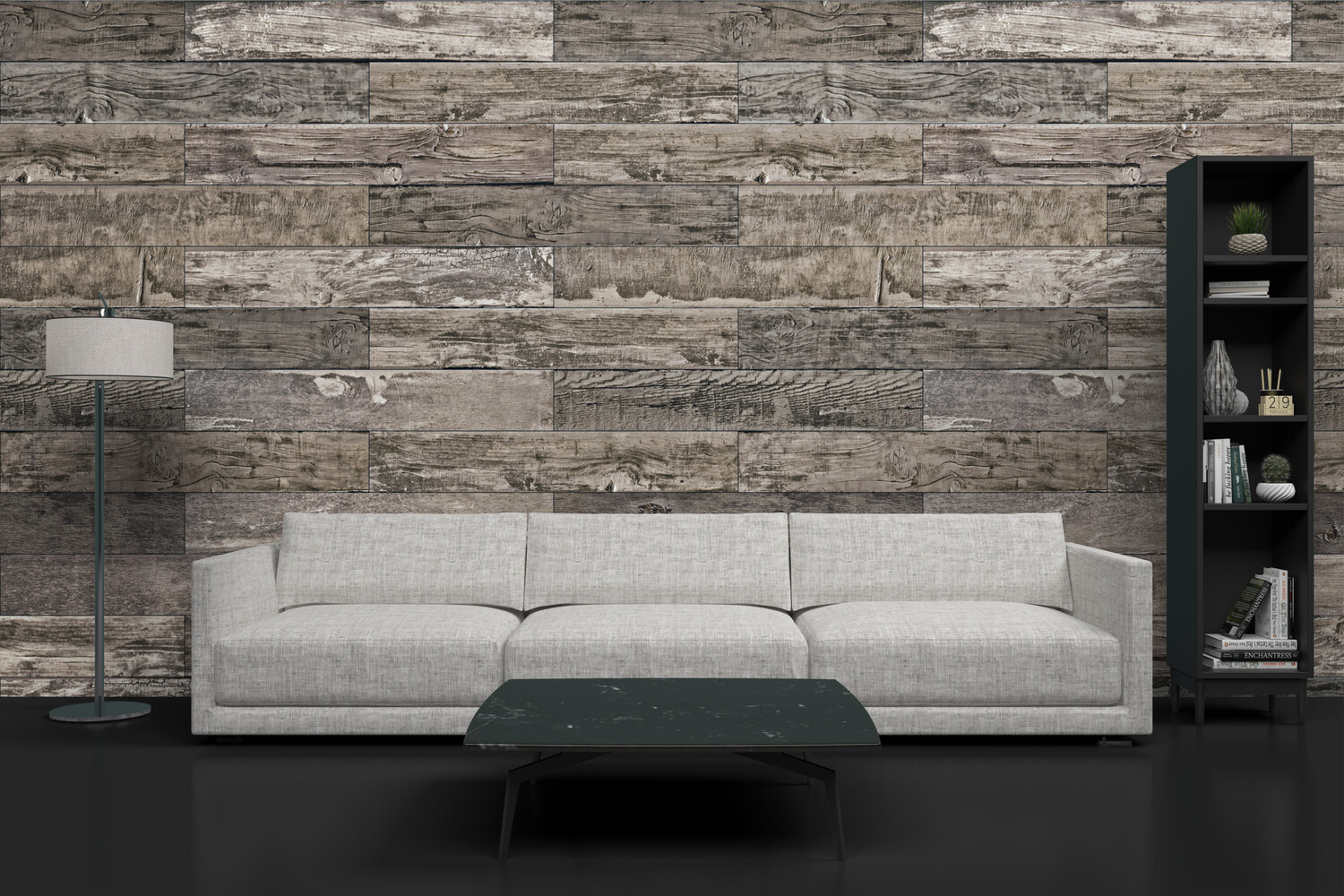 DISTRESSED WOOD | Vinyl Wall Wrap for Any Room | Removable Vinyl Wallpaper