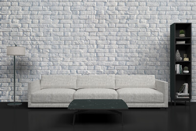 WHITE BRICK | Vinyl Wall Wrap for Any Room | Removable Vinyl Wallpaper