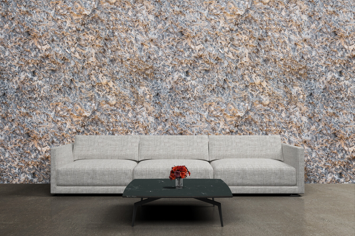 TEXTURED STONE | Vinyl Wall Wrap for Any Room | Removable Vinyl Wallpaper