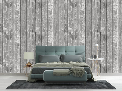 GREY WOOD PLANK | Vinyl Wall Wrap for Any Room | Removable Vinyl Wallpaper