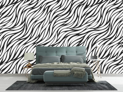 WAVY LEAF | Vinyl Wall Wrap for Any Room | Removable Vinyl Wallpaper