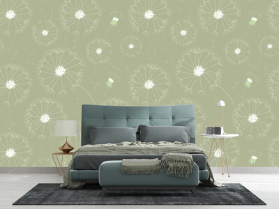 DANDELION | Vinyl Wall Wrap for Any Room | Removable Vinyl Wallpaper