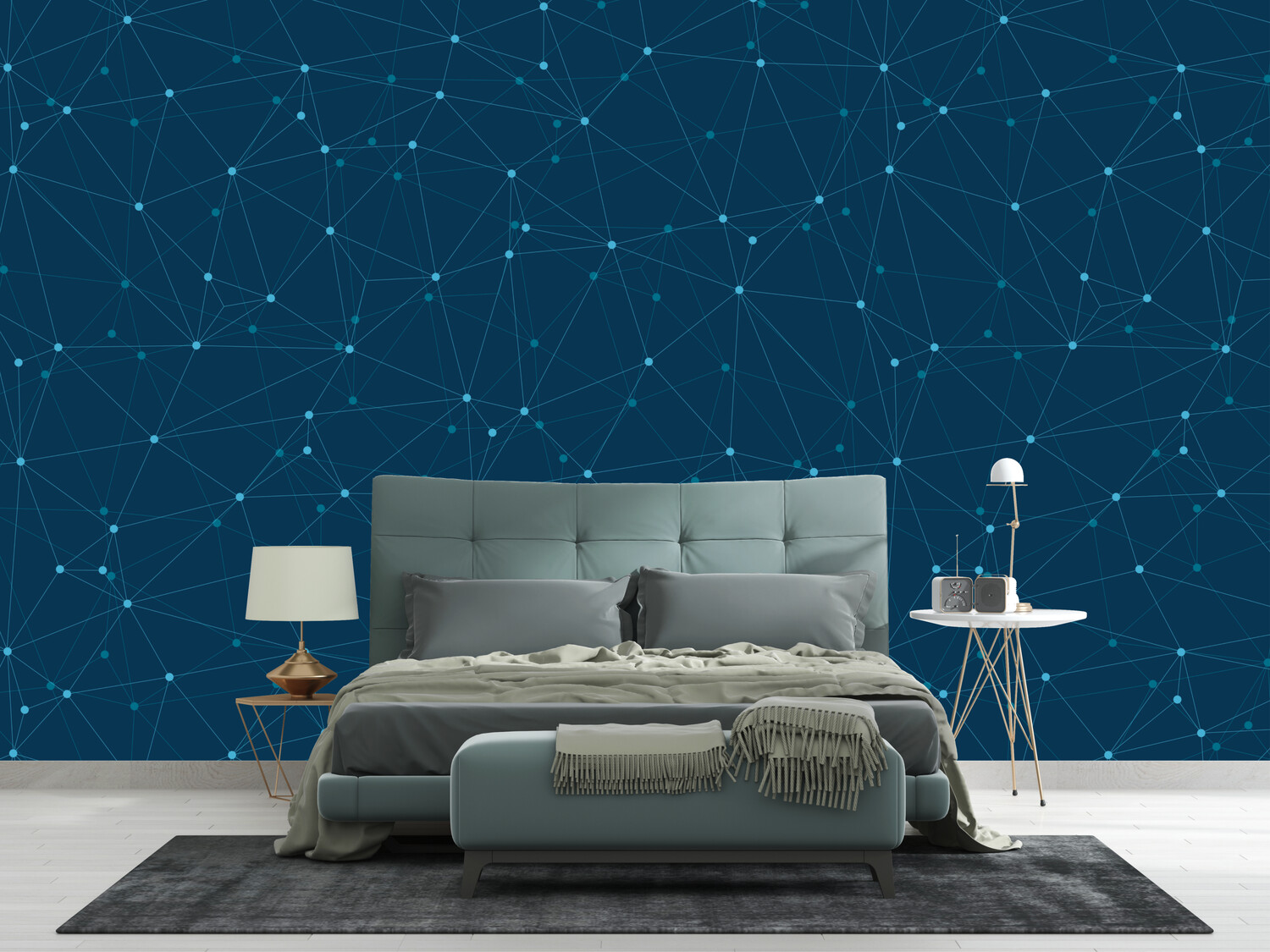 BLUE CONSTELLATION | Vinyl Wall Wrap for Any Room | Removable Vinyl Wallpaper