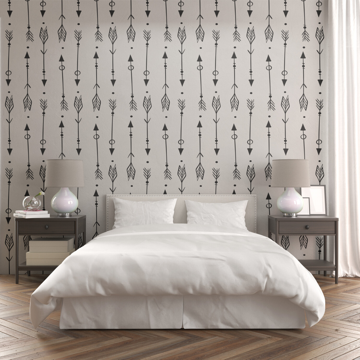 ARROWS | Vinyl Wall Wrap for Any Room | Removable Vinyl Wallpaper