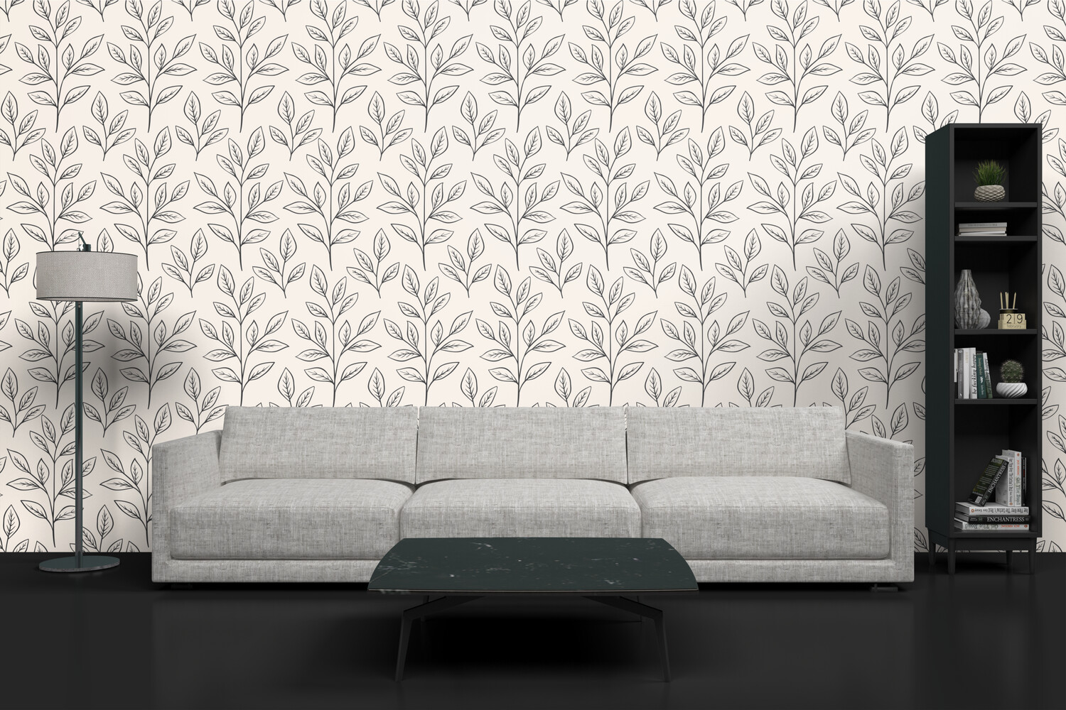 NEUTRAL FOLIAGE | Vinyl Wall Wrap for Any Room | Removable Vinyl Wallpaper