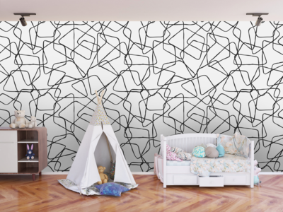VERONI MESH | Vinyl Wall Wrap for Any Room | Removable Vinyl Wallpaper