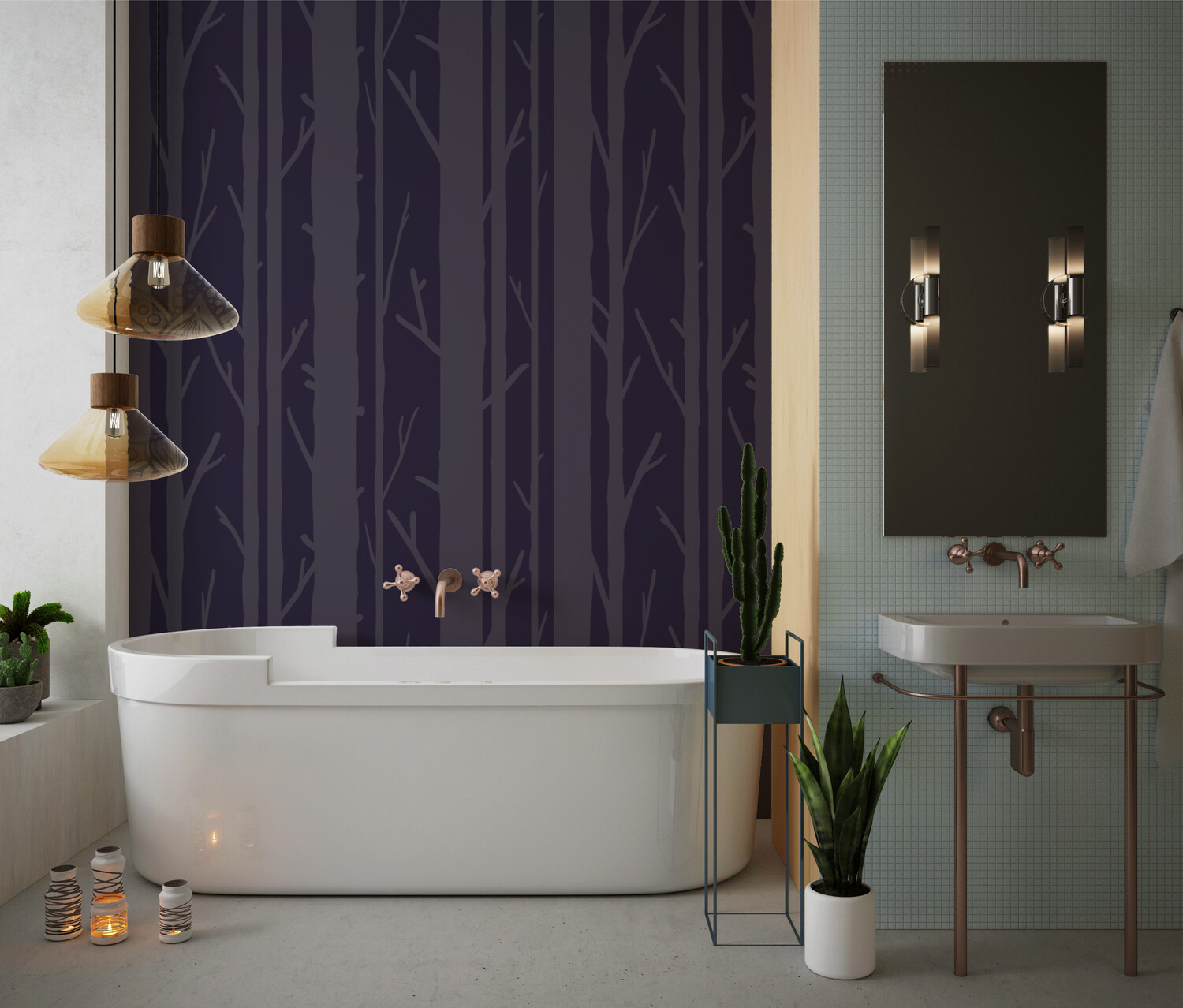 INTO THE WOODS   Vinyl Wall Wrap for Any Room   Removable Vinyl Wallpaper